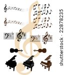 collection of musical design... | Shutterstock . vector #22878235