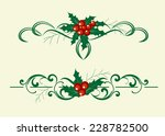 christmas decoration holly set. ... | Shutterstock .eps vector #228782500
