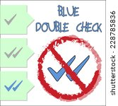 blue double check | Shutterstock .eps vector #228785836
