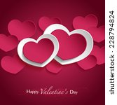 purple and white hearts on... | Shutterstock .eps vector #228794824