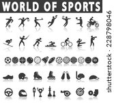sports icons | Shutterstock .eps vector #228798046