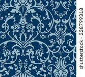 seamless pattern blue | Shutterstock .eps vector #228799318