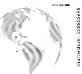 vector abstract dotted globe ... | Shutterstock .eps vector #228803698
