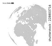 vector abstract dotted globe ... | Shutterstock .eps vector #228803716