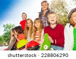 positive children with... | Shutterstock . vector #228806290