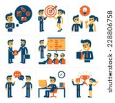 business infographic elements | Shutterstock .eps vector #228806758