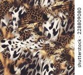 animal mix   seamless... | Shutterstock . vector #228809080