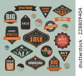 set of retro vintage sale and... | Shutterstock .eps vector #228809404