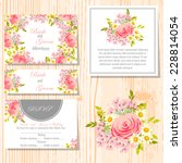 wedding invitation cards with... | Shutterstock .eps vector #228814054