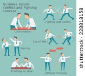 Business People In Conflict An...