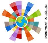 an image of a global chart. | Shutterstock . vector #228838303