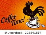 coffee time  coffee break... | Shutterstock .eps vector #228841894