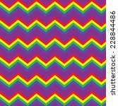 repeating rainbow zig zag... | Shutterstock .eps vector #228844486