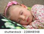 little girl sleeping | Shutterstock . vector #228848548