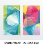 banners with glass bubble on... | Shutterstock .eps vector #228856150