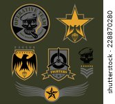 special unit military emblem... | Shutterstock .eps vector #228870280