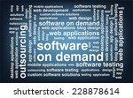 keyword  software on demand... | Shutterstock .eps vector #228878614