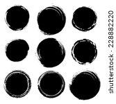 grunge shapes  set  black... | Shutterstock .eps vector #228882220