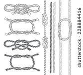 set of marine rope  knots....   Shutterstock .eps vector #228884416