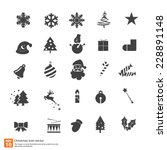 christmas icons vector design | Shutterstock .eps vector #228891148