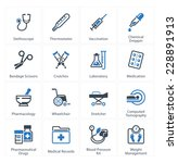medical   health care icons set ... | Shutterstock .eps vector #228891913