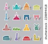Famous Scenic Spots Color Icon...