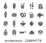 food and drinks icons | Shutterstock .eps vector #228894778