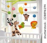 baby crib mobile | Shutterstock . vector #228896194
