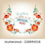 floral background thanksgiving... | Shutterstock .eps vector #228896518