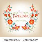 floral background thanksgiving... | Shutterstock .eps vector #228896539
