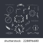 hand drawn set of florals... | Shutterstock .eps vector #228896680