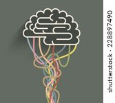 the brain is connected to the... | Shutterstock .eps vector #228897490