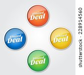 limited deal colorful vector... | Shutterstock .eps vector #228914560