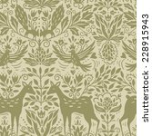 vector silhouette pattern with... | Shutterstock .eps vector #228915943