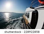 seascape boat on the high seas... | Shutterstock . vector #228922858