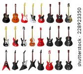 set of isolated vintage guitars.... | Shutterstock .eps vector #228923350