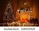 christmas room interior design  ... | Shutterstock . vector #228925420