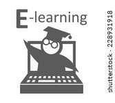 e learning education icon | Shutterstock .eps vector #228931918