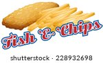 fish and chips sticker label... | Shutterstock .eps vector #228932698