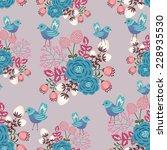 floral vector seamless pattern... | Shutterstock .eps vector #228935530