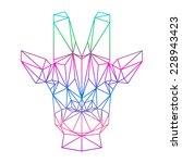polygonal abstract giraffe... | Shutterstock .eps vector #228943423