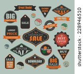 set of retro vintage sale and...   Shutterstock . vector #228946510