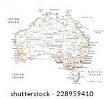 high detailed australia road... | Shutterstock .eps vector #228959410