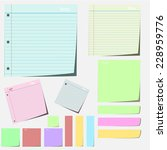 collection of various color... | Shutterstock .eps vector #228959776