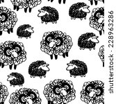 vector seamless pattern with... | Shutterstock .eps vector #228963286