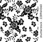 abstract floral on black... | Shutterstock .eps vector #228964360