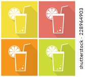 collection of four citrus juice ... | Shutterstock .eps vector #228964903