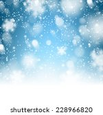 winter background. fallen... | Shutterstock .eps vector #228966820
