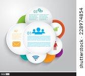 vector business infographics.... | Shutterstock .eps vector #228974854