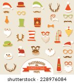 christmas retro party set  ... | Shutterstock .eps vector #228976084